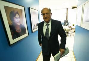O pré-candidato do PSDB à Presidência, Geraldo Alckmin, durante passagem por Brasília Foto: Ailton de Freitas/Agência O Globo/14-06-2018