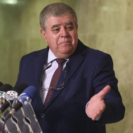 O ministro da Secretaria de Governo, Carlos Marun, durante entrevista Foto: Valter Campanato/Agência Brasil