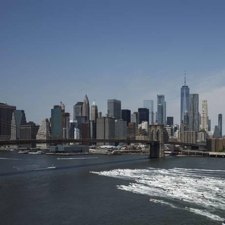 Vista da cidade de Nova York Foto: Drew Angerer / AFP