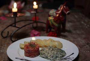 Sequência de pratos escandinavos Foto: Luiz Ackermann / Agência O Globo