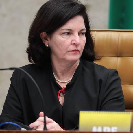 A procuradora-geral da República, Raquel Dodge, durante a sessão no plenário do STF Foto: Ailton de Freitas/Agência O Globo/06-06-2018