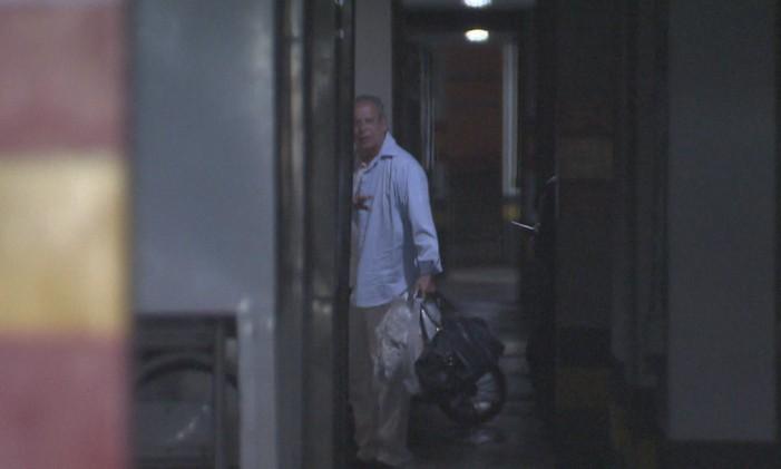 O ex-ministro José Dirceu retorna para casa Foto: Reprodução / TV GLOBO