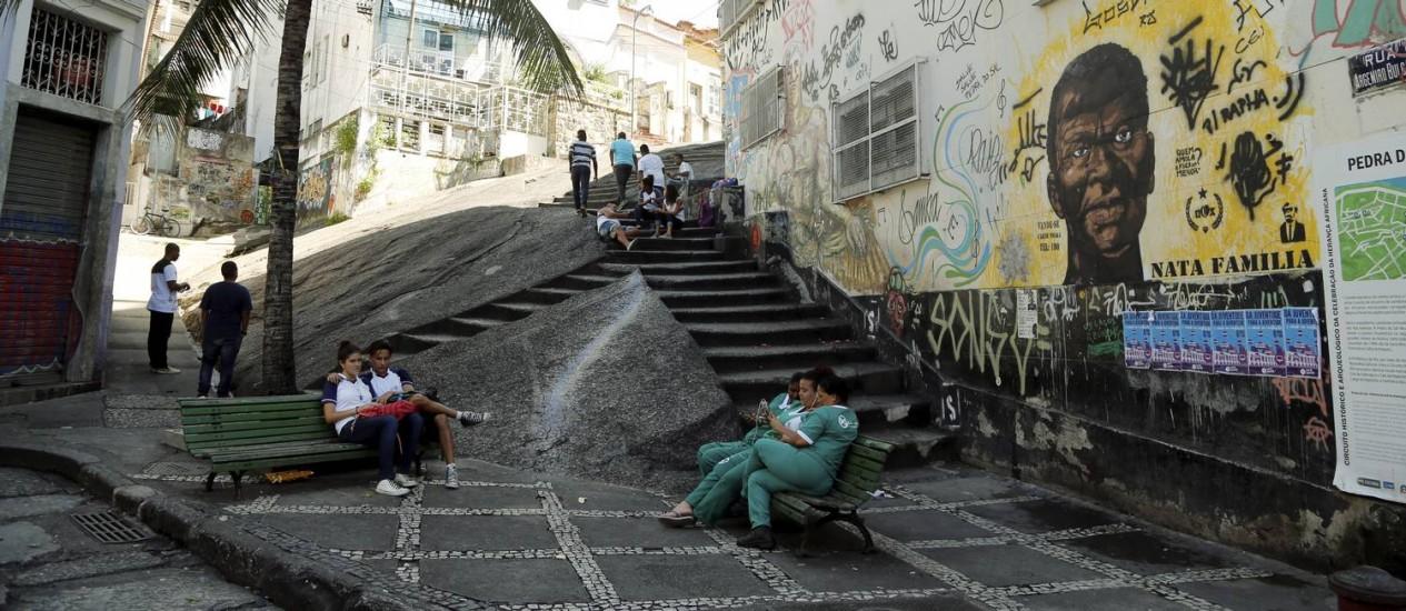 Pedra do Sal é palco de manifestações artísticas do Rio Foto: Gabriel de Paiva / Agência O Globo