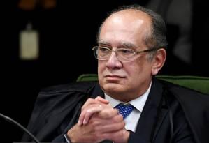 Ministro Gilmar Mendes durante julgamento da senadora Gleisi Hoffman Foto: Evaristo Sá - 19/06/2018 / AFP