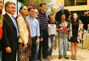 Marina Silva participa de lançamento de pré-candidaturas no Distrito Federal Foto: Maria Lima/Agência O Globo