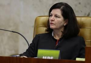 A procuradora-geral da República, Raquel Dodge, durante sessão do STF Foto: Jorge William/Agência O Globo/03-05-2018