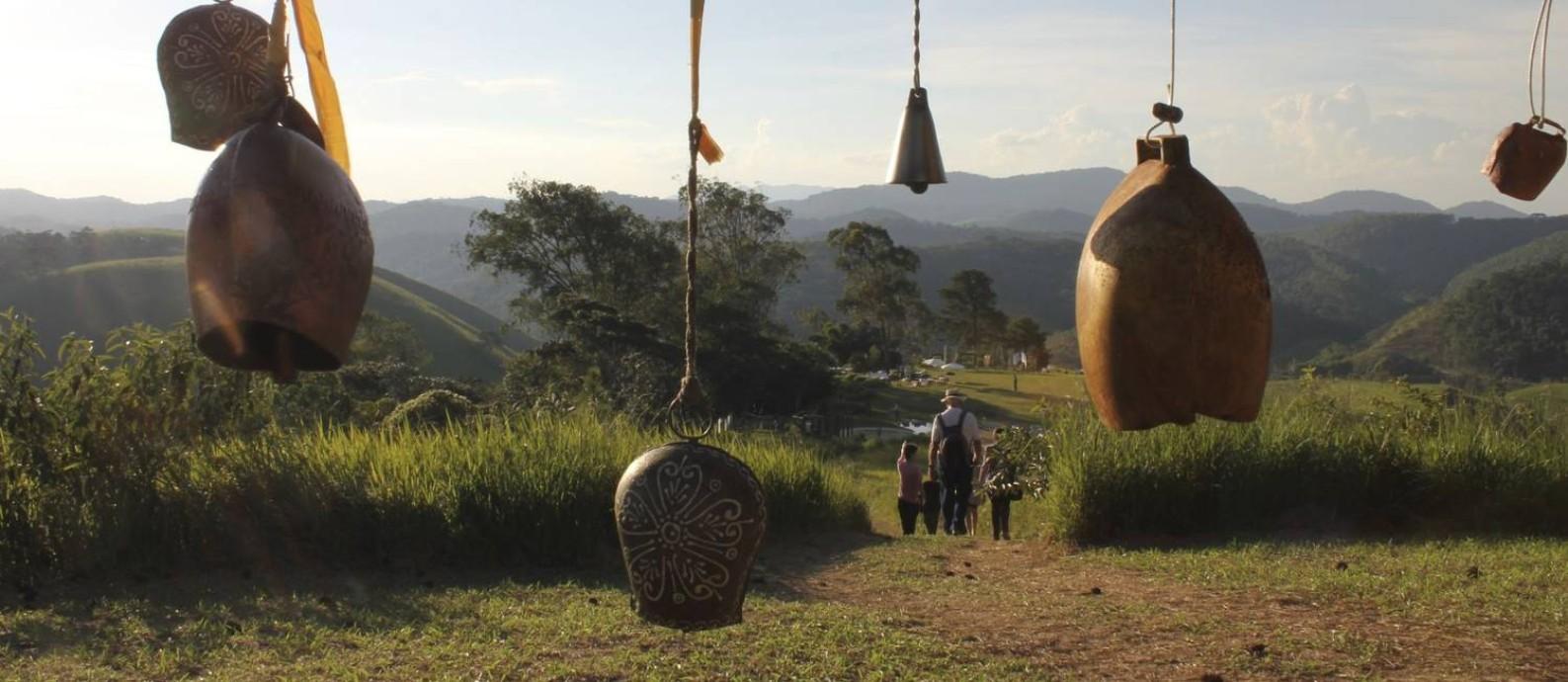 Sinos. O jardim Uaná Etê: 135 mil metros quadrados de paz Foto: O Globo / Ana Beatriz Marin