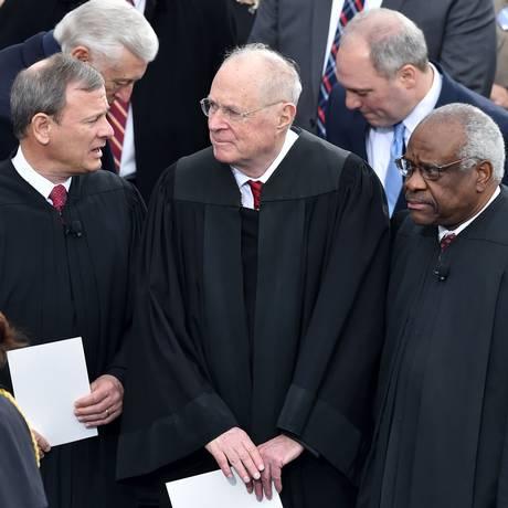 Aposentadoria do juiz Anthony Kennedy põe em risco o direito constitucional ao aborto nos Estados Unidos Foto: PAUL J. RICHARDS / AFP