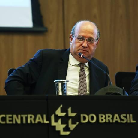 O presidente do Banco Central, Ilan Goldfajn, durante entrevista Foto: Ailton de Freitas / Agência O Globo