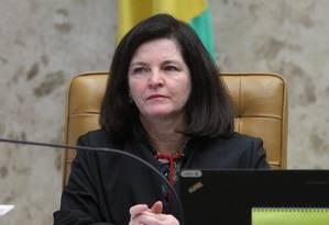 A procuradora-geral da República, Raquel Dodge, durante sessão do STF Foto: Ailton de Freitas/Agência O Globo/02-05-2018