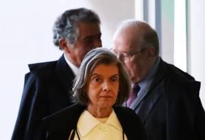 A presidente do STF, ministra Cármen Lúcia, antes de julgamento Foto: Ailton de Freitas/Agência O Globo/21-06-2018