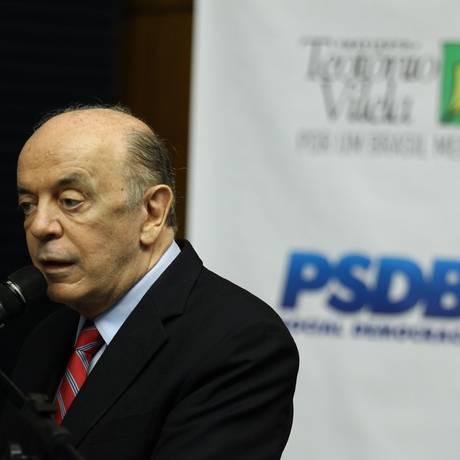 O senador José Serra participa de reunião da Executiva do PSDB Foto: Jorge William/Agência O Globo/28-11-2017