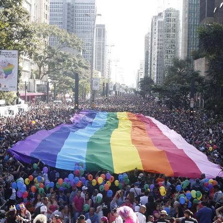 21ª edição da Parada do Orgulho LGBT de São Paulo Foto: Marcos Alves/Agência O Globo/18-06-2017