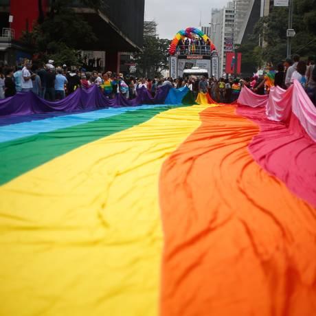 22ª edição da Parada do Orgulho LGBT de São Paulo Foto: Marcos Alves / Agência O Globo/03-06-2018