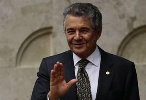 O ministro Marco Aurélio Mello, durante sessão do Supremo Tribunal Federal Foto: Jorge William/Agência O Globo/03-05-2018