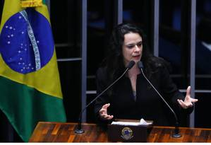 A advogada Janaína Paschoal e sua família foram atacadas por grupos que usavam nomes falsos Foto: Ailton de Freitas / Agência O Globo