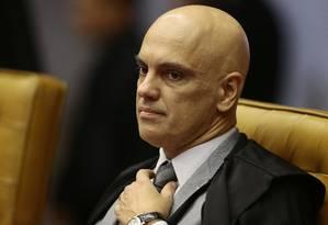 O ministro Alexandre de Moraes, durante sessão do STF Foto: Jorge William/Agência O Globo/20-06-2018
