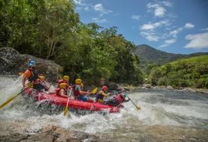 Uma das opções de rafting é no Encontro dos Rios Foto: Christian Costa / divulgação / christian costa