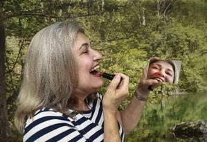 A psicóloga carioca Elma Izai, de 68 anos, considera a relação sexual um componente importante da felicidade, por isso não mostra constrangimento em falar sobre o assunto Foto: Marcos Ramos / Agência O Globo