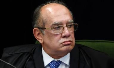 O ministro Gilmar Mendes, durante sessão da Segunda Turma do STF Foto: Evaristo Sá/AFP/19-06-2018