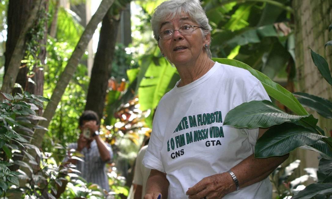 Dorothy Stang. Assassinato de religiosa americana em 2005 tornou-se símbolo da gravidade de conflitos agrários Foto: Carlos Silva/Imapress/12-2-2005