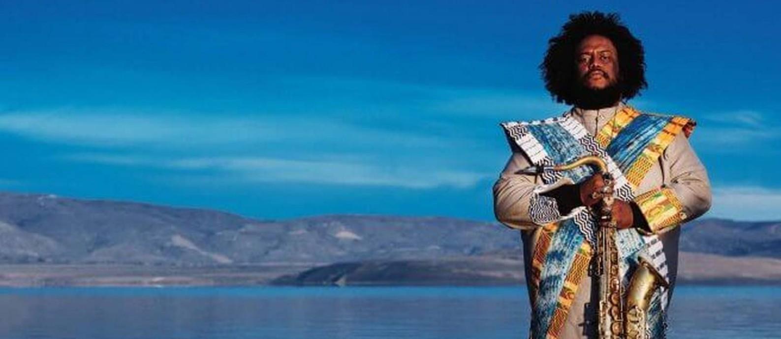O saxofonista, compositor e arranjador americano Kamasi Washington Foto: Reprodução