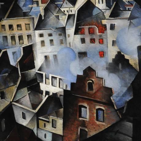 'Ypres depois do bombardeio' (1916), de Christopher Richard Wynne Nevinson, presente à esposição 'Rescaldo: a arte no rastro da Primeira Guerra, em tradução livre' Foto: Tate Britain/Divulgação