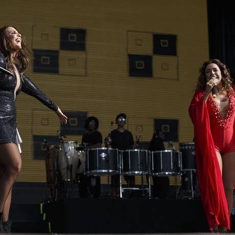 Ivete Sangalo e Daniela Mercury no Palco Mundo: sucessos do axé no Palco Mundo Foto: Agência Zero / Agenciazero.net