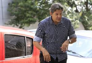 O ex-prefeito de São Paulo Fernando Haddad 06/03/2018 Foto: Edilson Dantas / Agência O Globo