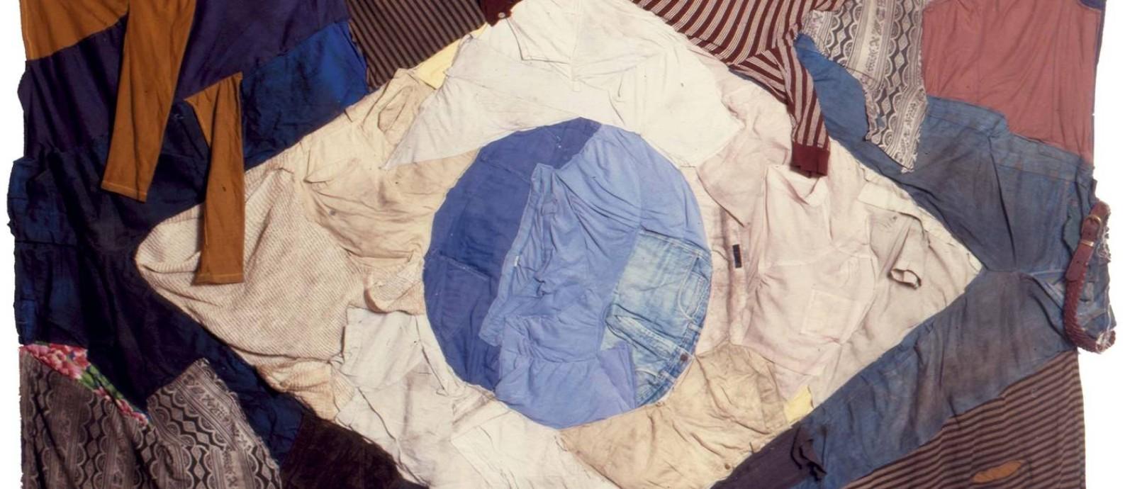 'Bandeira de farrapos' foi criada em 1993 e é a peça mais antiga da mostra Foto: Divulgação