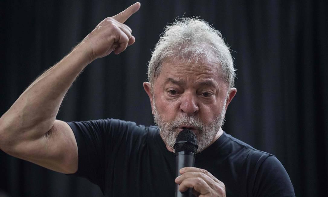 O ex-presidente Lula participa de lançamento de livro em São Paulo Foto: Nelson Almeida/AFP/16-03-2018