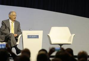 O ex-presidente Fernando Henrique Cardoso durante o Encontro Nacional da Indústria Foto: Jorge William / Agência O Globo