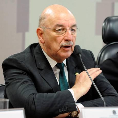 O deputado Osmar Terra (MDB-RS), na comissão que discute a tabela do frete Foto: Luis Macedo/Câmara dos Deputados