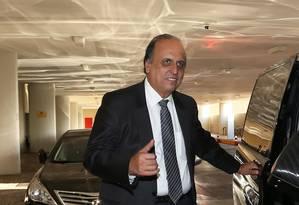 O governador do Rio de Janeiro, Luiz Fernando Pezão, durante visita à Brasília Foto: Ailton de Freitas / Agência O Globo