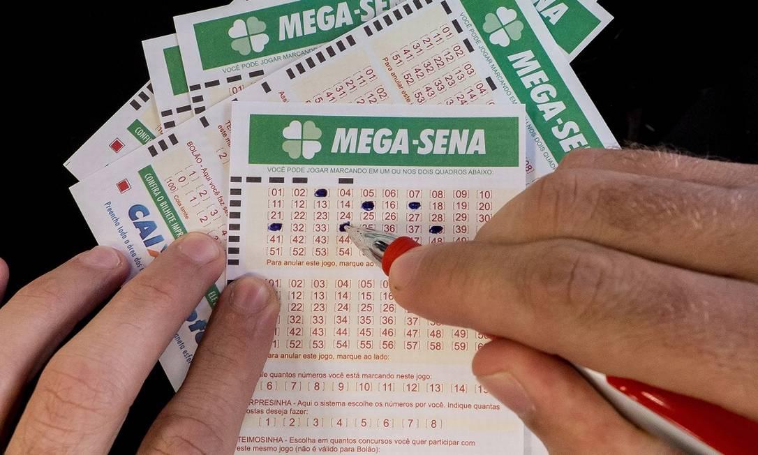 Cartelas da Mega-Sena Foto: / Arquivo O Globo