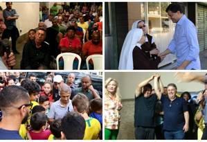 Pré-candidatos ao governo do Rio já estão nas ruas falando com eleitores Foto: Divulgação