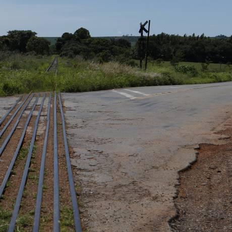Trecho da ferrovia Norte-Sul em Anápolis, Goiás Foto: Michel Filho/Agência O Globo/18-01-2018