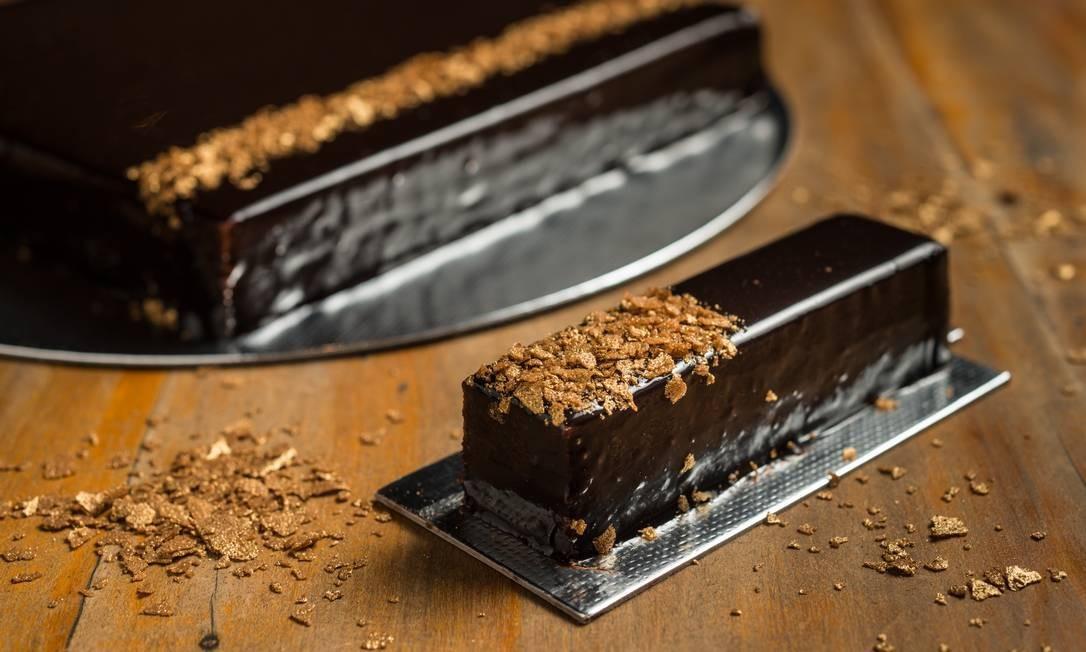 Empório Jardim. Uma das tortas mais pedidas é a de chocolate belga com praliné de avelã (R$ 19,50). Rua Visconde da Graça 51, Jardim Botânico (2535-9862) Tomas Rangel / Divulgação