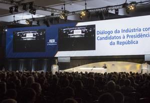 CNI promove encontros com pré-candidatos à Presidência Foto: Daniel Marenco / Agência O Globo