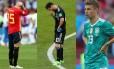 Sergio Ramos, Messi e Müller. Todos eles foram eliminados precocemente na Copa do Mundo de 2018