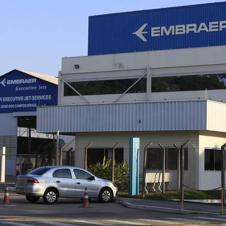 Sede da Embraer, em São Jose dos Campos Foto: Edilson Dantas / Agência O Globo