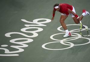 Rafael Nadal em ação no Centro Olímpico na Rio-2016: depois, local só sediou quatro torneios pequenos Foto: TOBY MELVILLE/13-8-2016 / Reuters