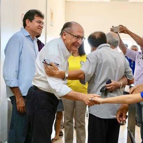 Geraldo Alckmin acompanhou o jogo da selação em Imperatriz (MA) Foto: Reprodução/Twitter