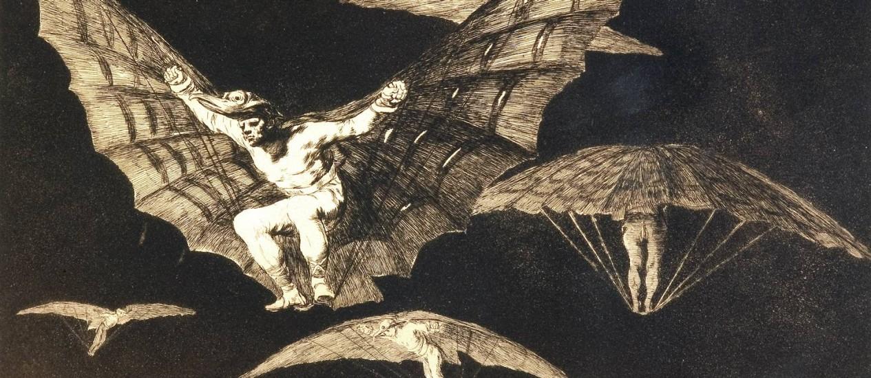 Gravura da série 'Disparates', produzida no mesmo período que as célebres 'pinturas negras' Foto: Divulgação