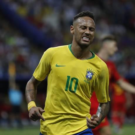Neymar durante a partida contra a Bélgica Foto: Alexandre Cassiano / Agência O Globo
