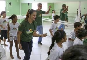 Soraia, no Instituto Casa Viva: vontade de continuar a ajudar mesmo após conseguir emprego Foto: Pedro Teixeira / Pedro Teixeira