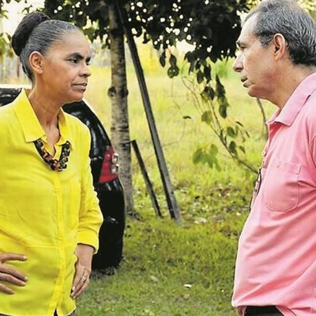 """Marina conversa com Toinho: """"Eu ajudo na formulação de algum texto mais espinhoso, mas a palavra final é sempre dela"""", diz ele Foto: Reprodução / Blog Altino Machado"""