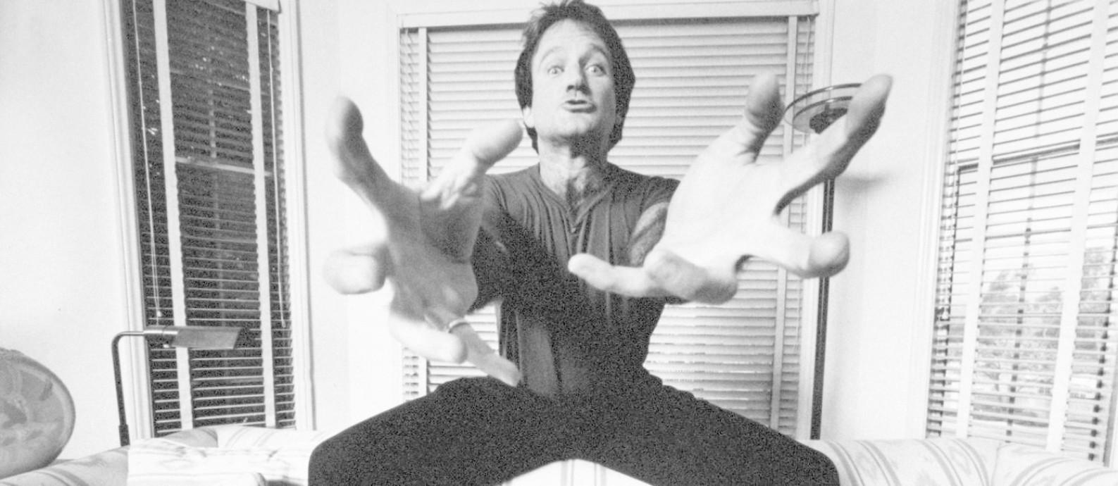 Robin Williams é o narrador do filme de Marina Zenovich, por meio de áudios de entrevistas feitas com ele Foto: Mark Sennet / Divulgação