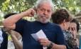 O ex-presidente Lula em São Bernardo do Campo, abril de 2018