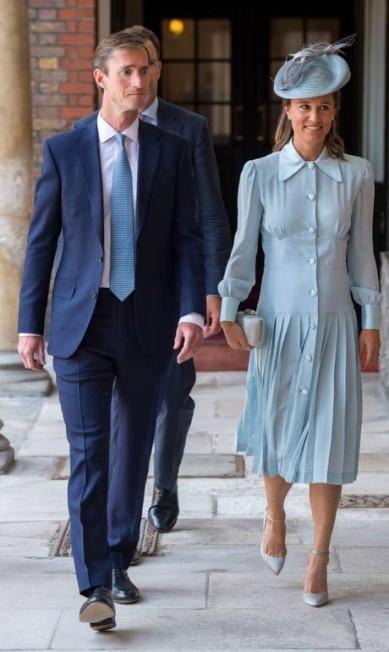 Os tios Pippa Middleton e James Matthews DOMINIC LIPINSKI / AFP